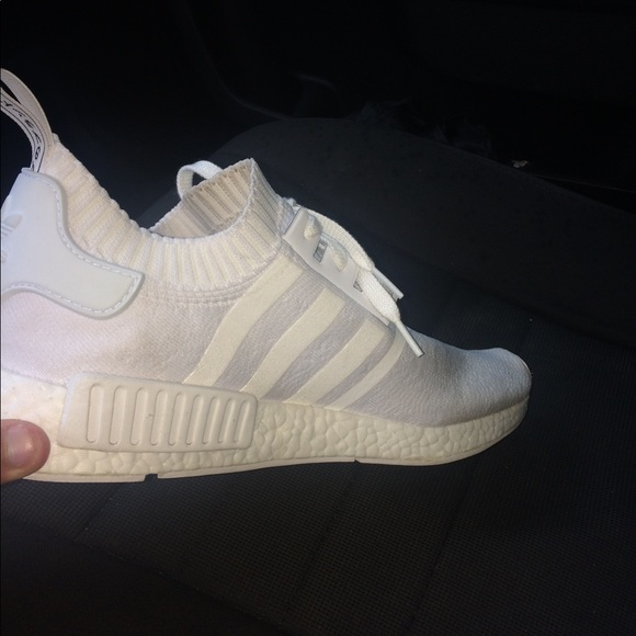 big sale 92294 b6b8c all white nmds! Size 13. Text me at 336-485-5860